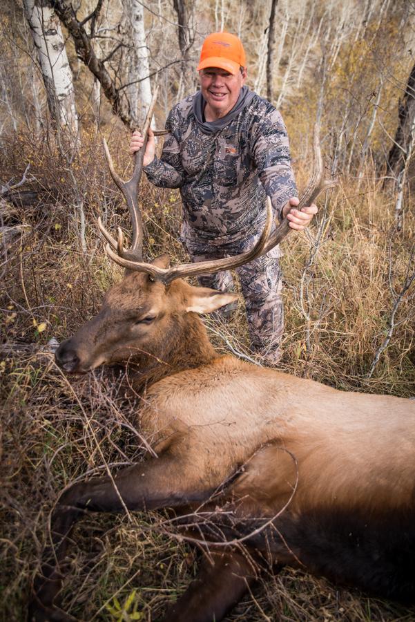 hunting, elk, elk hunting, colorado, sitka gear, bull, bull elk, hsm ammo, hunting shack
