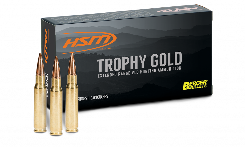Trophy Gold box and three cartridges