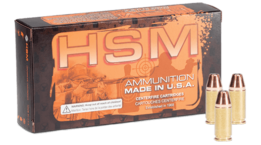 Self Defense ammo box with three cartridges